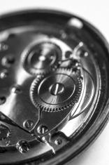 clockwork in black and white