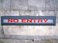 No Entry !!