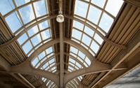 Vintage glass ceiling