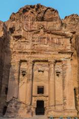 Urn Tomb in Nabatean city of  Petra Jordan