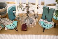Wedding reception rustic table decor