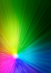 rainbow-colored paints with light texture