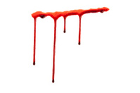 Dripping blood isolated on white