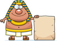 Cartoon Egyptian Pharaoh Sign