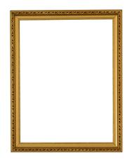 dark gold vertical decorated frame