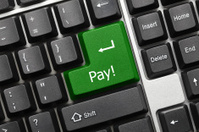 Conceptual keyboard - Pay (green key)