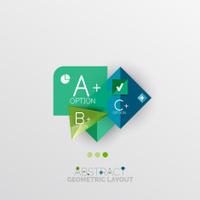 Modern abstract geometric info banner