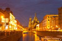White nights, Saint-Petersburg, Russia