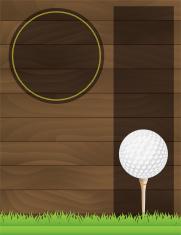 Vector Golf Tournament Flyer Illustration