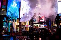 Rainy Times Square at Night. NYC