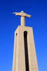 Jesus Christ monument overlooking Lisbon, Portugal.