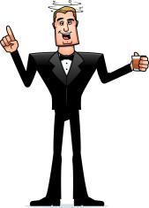 Drunk Cartoon Spy in Tuxedo