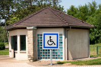 Public restroom for disabled person