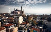 Buildings of Istanbul and Hagia Sophia