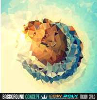 Low Poly trangular trendy Art background for your polygonal flye