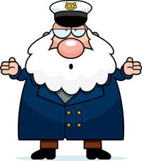 Confused Cartoon Sea Captain