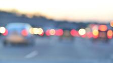 Brake Lights Out of Focus in Traffic - Bokeh