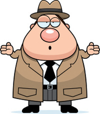 Confused Cartoon Detective