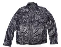 black windbreaker jacket full zip
