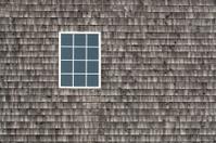 Single window weathered shingles