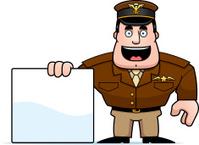 Cartoon Captain Sign