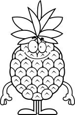 Happy Cartoon Pineapple