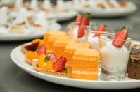Collection of delicious  assorted mini  dessert