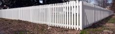 White Plastic Picket Fence
