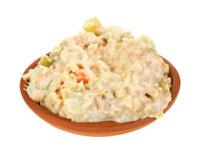 Tuna salad in small bowl