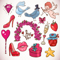 Doodle cartoon love collection