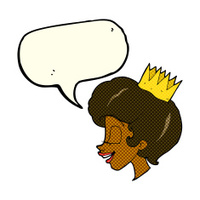 cartoon princess with speech bubble