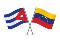 Cuban and Venezuela flags. Vector.