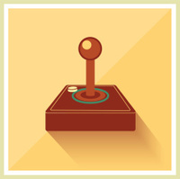 Computer Video Game Joystick Vector