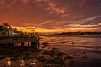 Fort Kochi shoreline at sunset