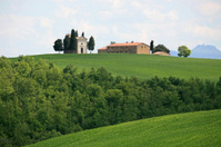 Cappella di Vitaleta in Val d'Orcia, Tuscany Italy