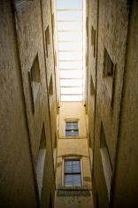 narrow courtyard