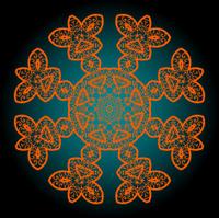 Orange outlined mandala