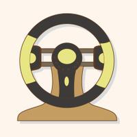racing steering wheel theme elements vector,eps