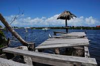 storm battered pier