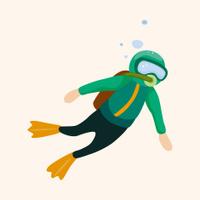 diver theme elements