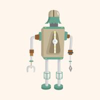 robot theme elements vector,eps