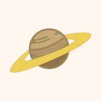 Space planet theme elements vector,eps
