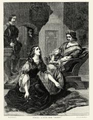 Ophelia a scene from Hamlet