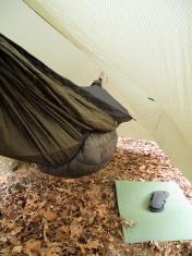 Hammock under tarp
