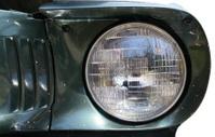 mustang headlight details