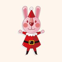 animal cartoon christmas style theme elements