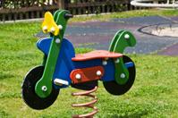 Kids Motorbike on playground