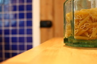 Jar of pasta in the kitchen