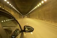Traffic inside tunnel