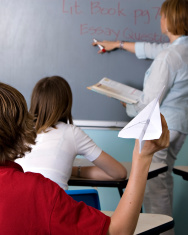 Mischievous Student In the Classroom